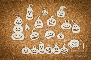 Chipboard - Pumpkins  - Halloween Time