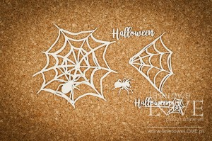 Chipboard - Big spider web  - Halloween Time