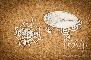 Chipboard - Frames with a spider web - Halloween Time