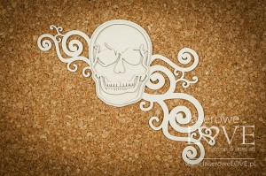 Chipboard - Big skull with ornaments - Halloween Time