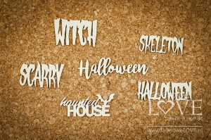 Chipboard - Inscriptions - Halloween Time