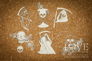 Chipboard - Grim Reaper, Death - Halloween Time