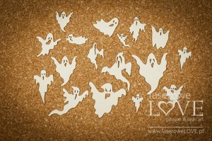 Chipboard - Ghosts - Halloween Time
