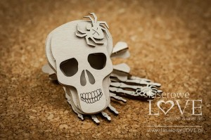 Chipboard - Skull 3D - Halloween Time