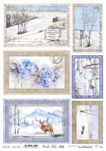 Papier ryżowy do decoupage - A4  - Winter Tales - 06 - Lexi Design