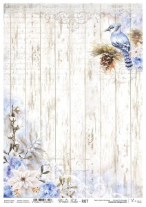 Papier ryżowy do decoupage - A4  - Winter Tales - 07 - Lexi Design