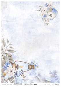 Papier ryżowy do decoupage - A4  - Winter Tales - 13 - Lexi Design