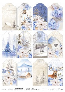 Papier ryżowy do decoupage - A4  - Winter Tales - 15 - Lexi Design