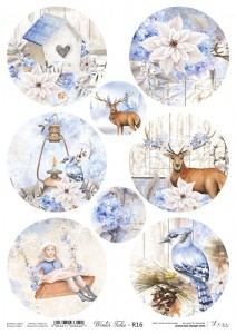 Papier ryżowy do decoupage - A4  - Winter Tales - 16 - Lexi Design