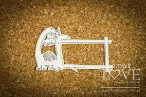 Chipboard - Frame with a brachiosaurus - Dino Land