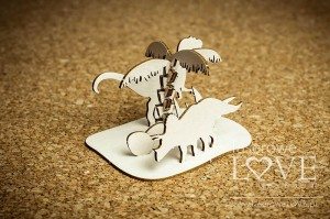 Chipboard - Dinosaurs with a palm, 3D - Dino Land