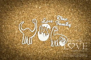 Chipboard - Dino Family - Dino Land