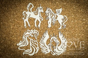Chipboard - Unicorns, set no. 1 - Rainbow Unicorn