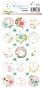 Set of stickers   - Mysterious Unicorn - 01 -  Lexi Design