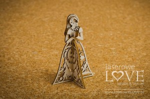 Chipboard - First Communion Girl, 3D - Holy & White