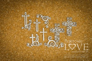 Chipboard - Ornament crosses - Holy & White