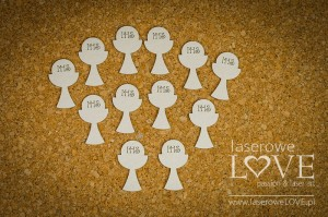 Chipboard - Simple chalices, 12 items - Holy & White