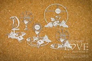 Chipboard - Communion compositions with bread  - Holy & White