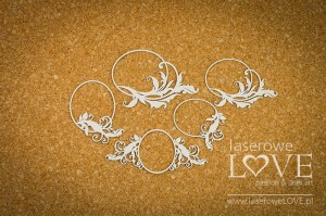 Chipboard - Small oval frames with ornaments - Holy & White