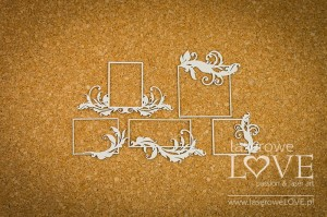 Chipboard - Small rectangular frames - Holy & White