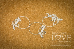 Chipboard - Oval frames with ornaments - Holy & White