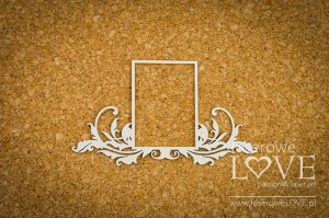 Chipboard -  Big rectangular frame - Holy & White