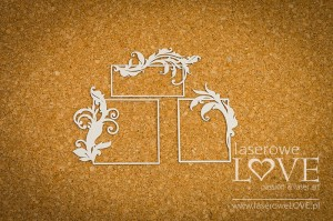 Chipboard - Rectangular frames  - Holy & White