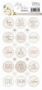 Set of stickers - Holy & White - 03 -  Laserowe Love