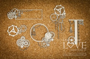 Chipboard - Decorations with cogs - Steampunk Heaven