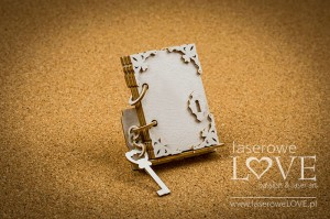 Chipboard - Book of wishes, 3D - Holy & White