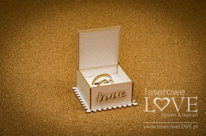 Chipboard - Box for wedding rings, 3D - Holy & White