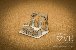 Chipboard - Wedding wall, 3D - Holy & White