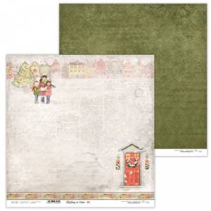 Paper 30x30 cm  - Christmas in Town 01 - Lexi Design