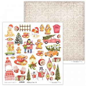 Paper 30x30 cm  - Christmas in Town 02- Lexi Design