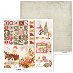 Paper 30x30 cm  - Christmas in Town 06 - Lexi Design