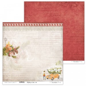 Paper 30x30 cm  - Christmas in Town 09 - Lexi Design