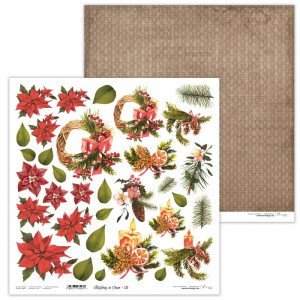 Paper 30x30 cm  - Christmas in Town 10 - Lexi Design