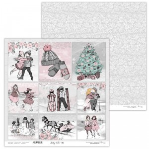 Paper 30x30 cm  - Shabby Winter 06 - Lexi Design