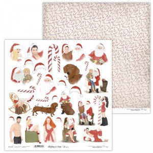 Papier 30x30 cm  - Christmas in Town 12 EXTRA - Lexi Design