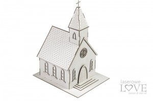 Chipboard - Church, 3D big - Christmas in town