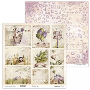 Paper 30x30 cm  - Little Safari 04 -  Lexi Design