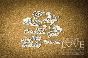 Chipboard - Birthday inscriptions - Little Safari