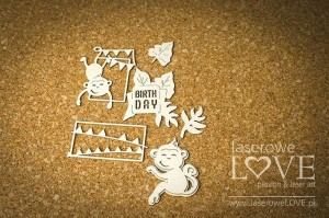 Chipboard - Baby monkeys - Little Safari