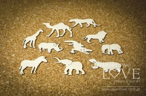Chipboard - Set of animals - Little Safari