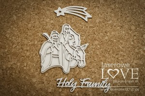 Chipboard - Holy Family - Cinnamon Christmas