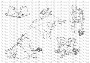 Wedding couples - Beautiful Moments- coloring digi stamps