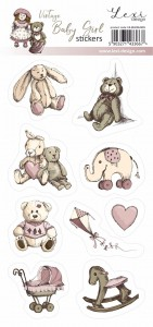Vintage Baby Girl - Stickers
