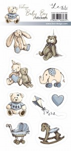 Vintage Baby Boy - Stickers