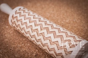 Engraved rolling pin - Zig Zag