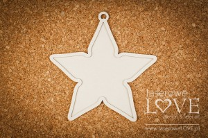 Chipboard  - Star - Base - Vintage Christmas